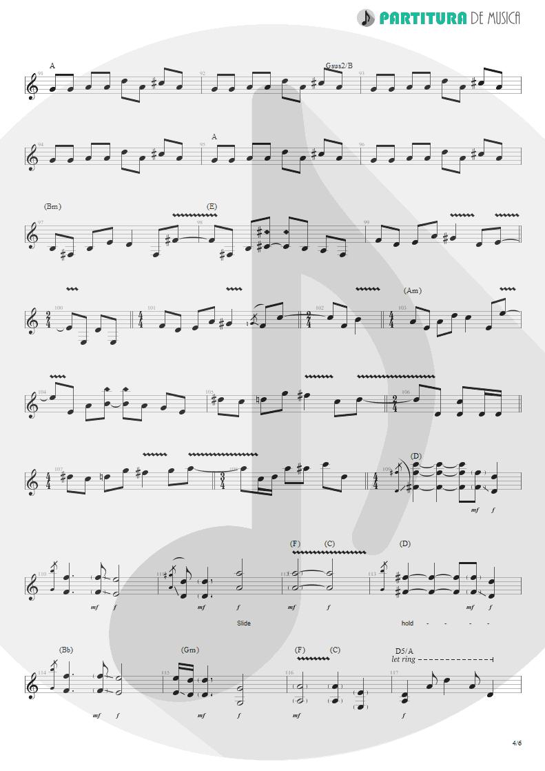 Partitura de musica de Guitarra Elétrica - Lifting Shadows Off A Dream | Dream Theater | Awake 1994 - pag 4