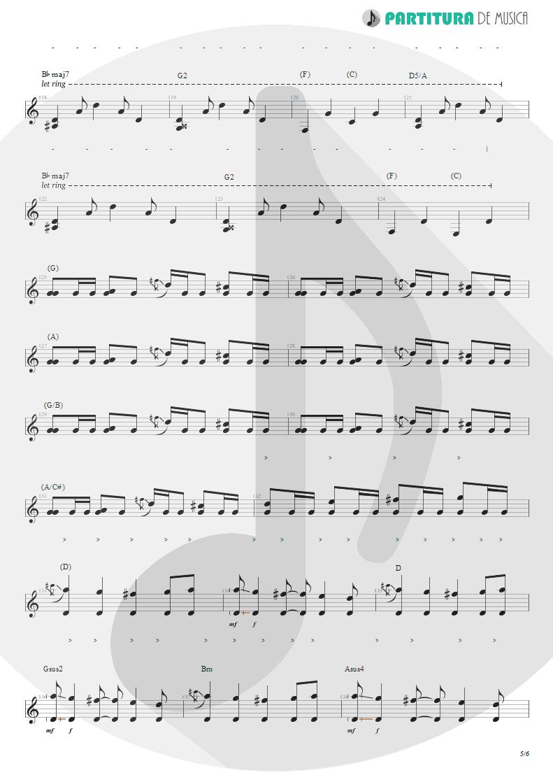 Partitura de musica de Guitarra Elétrica - Lifting Shadows Off A Dream | Dream Theater | Awake 1994 - pag 5