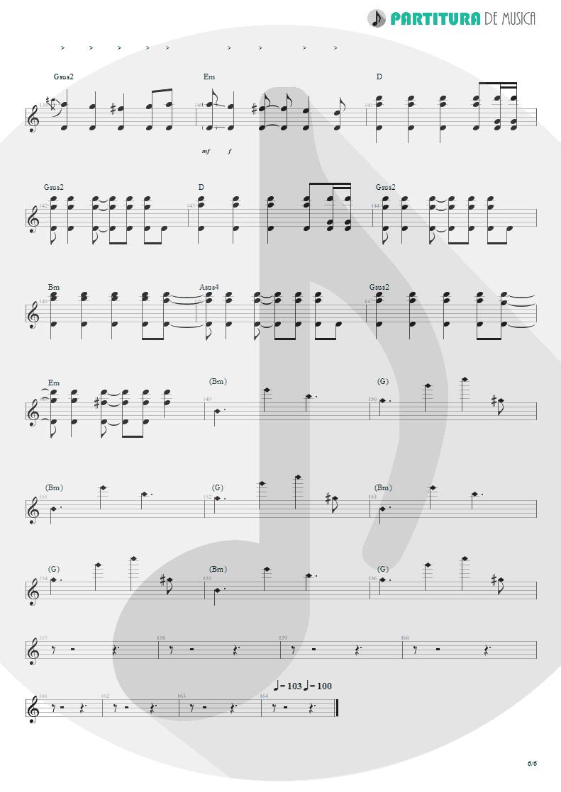 Partitura de musica de Guitarra Elétrica - Lifting Shadows Off A Dream | Dream Theater | Awake 1994 - pag 6