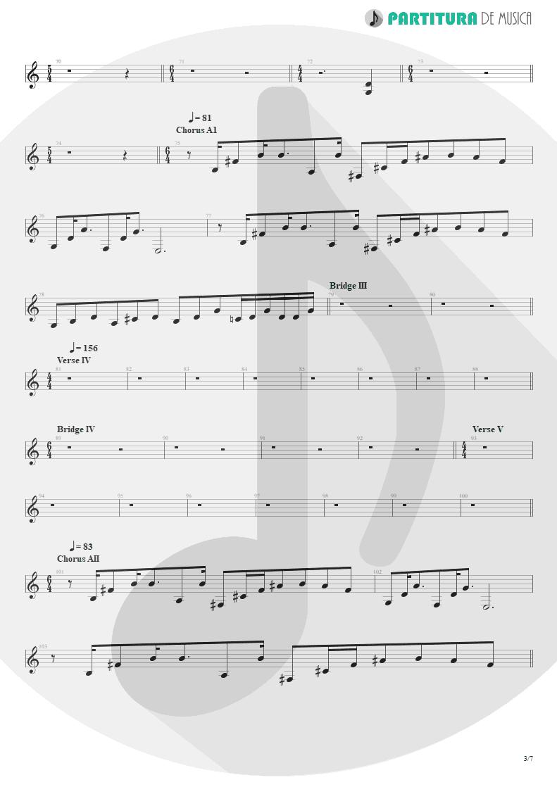 Partitura de musica de Guitarra Elétrica - Scarred | Dream Theater | Awake 1994 - pag 3