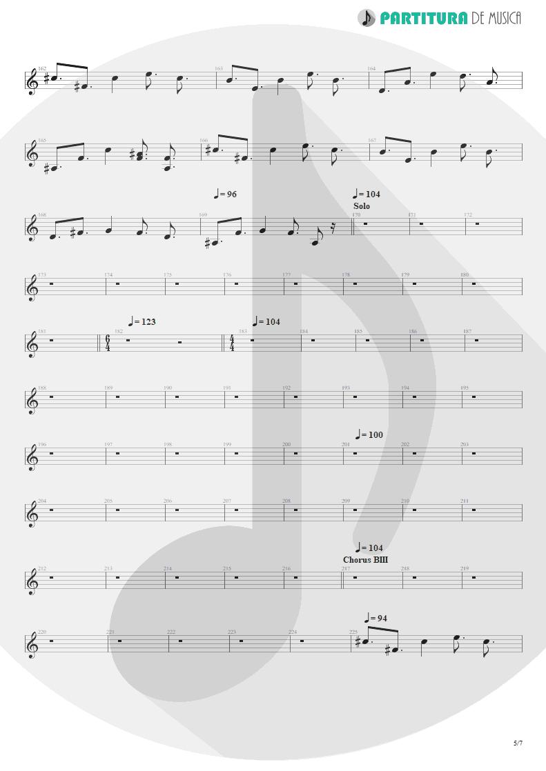Partitura de musica de Guitarra Elétrica - Scarred | Dream Theater | Awake 1994 - pag 5