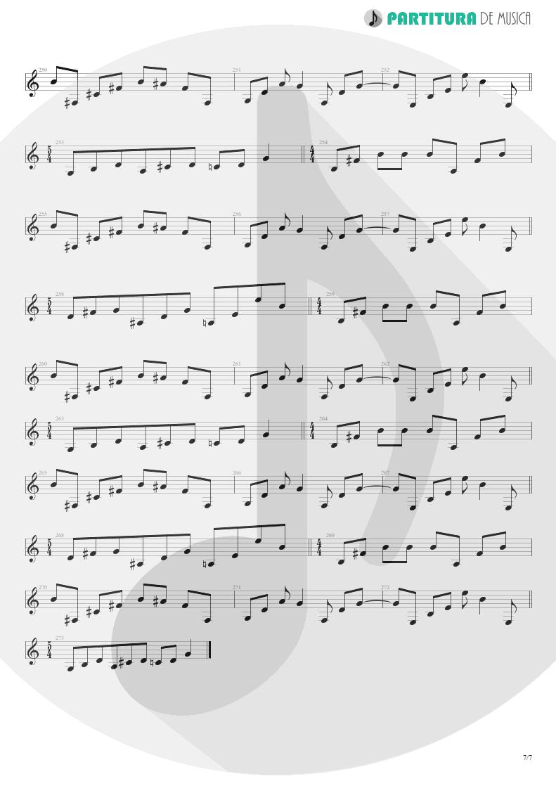 Partitura de musica de Guitarra Elétrica - Scarred | Dream Theater | Awake 1994 - pag 7