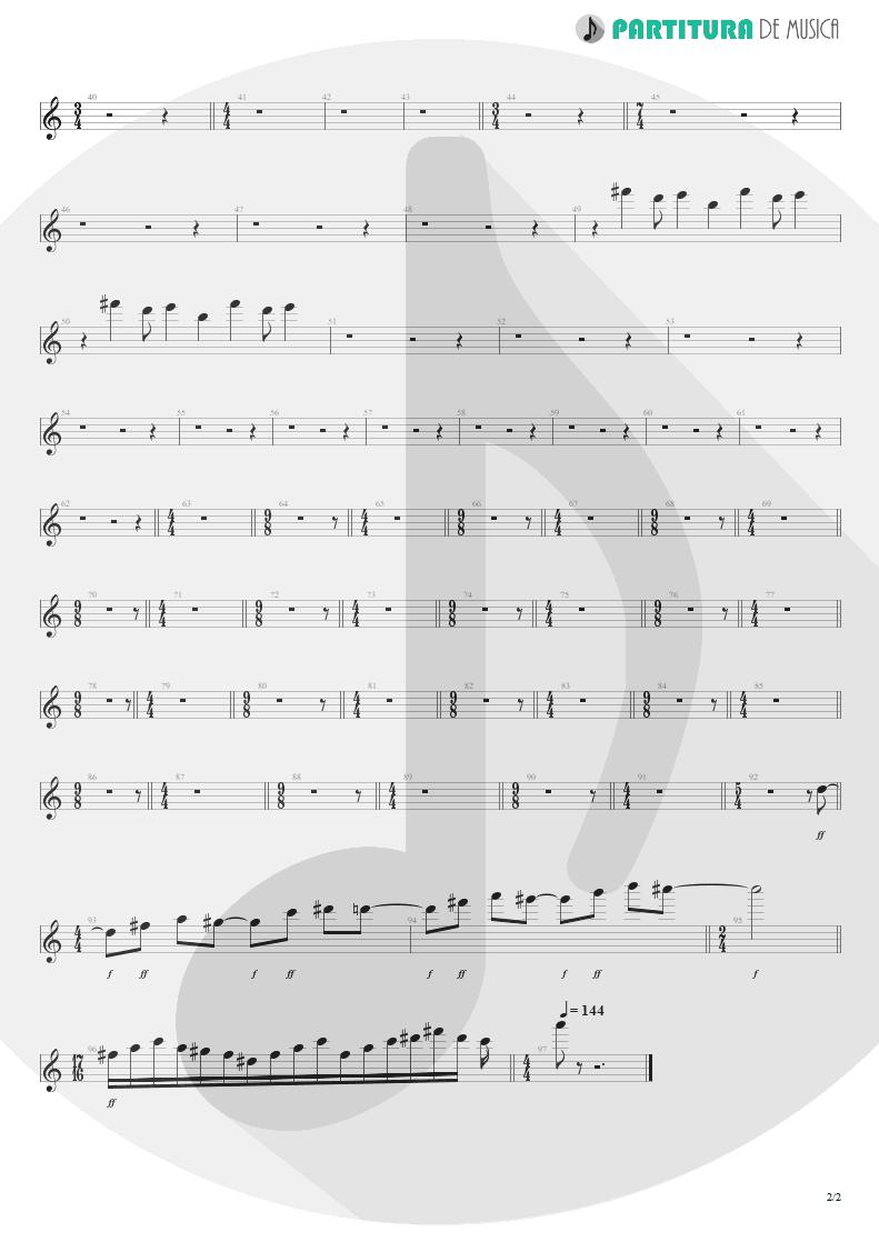 Partitura de musica de Teclado - ACOS: I - The Crimson Sunrise | Dream Theater | A Change of Seasons 1995 - pag 2