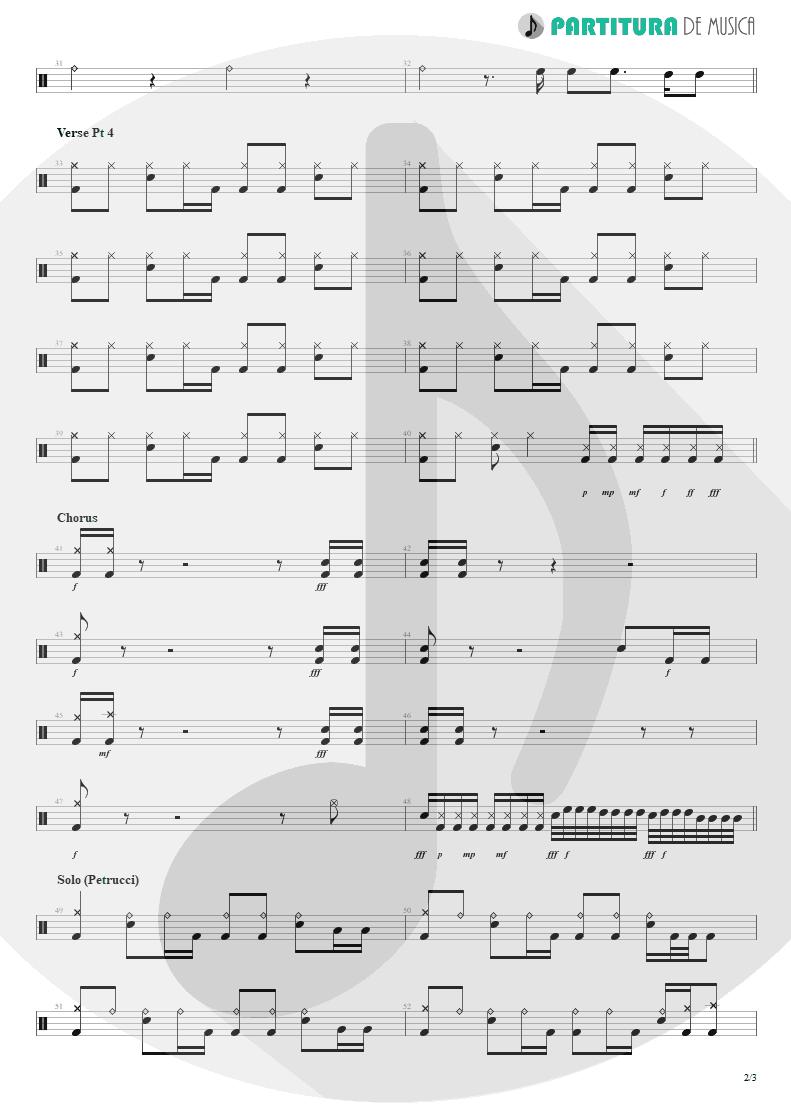 Partitura de musica de Bateria - ACOS: V - Another World | Dream Theater | A Change of Seasons 1995 - pag 2