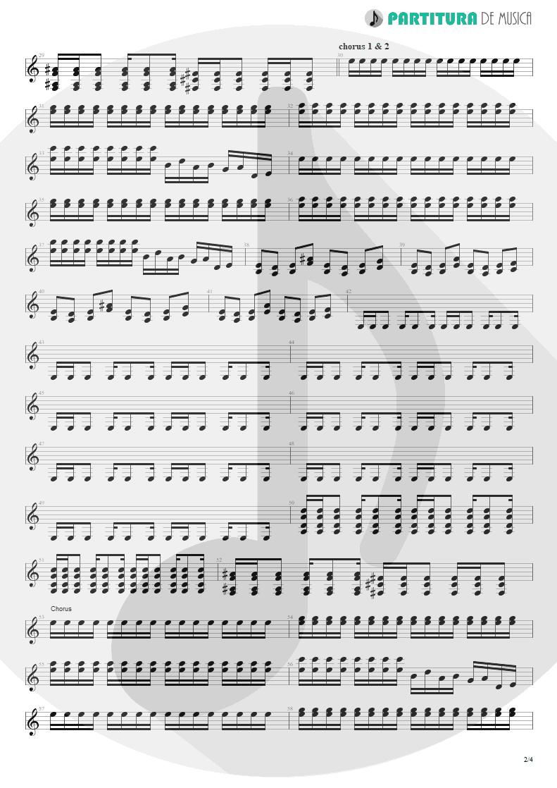 Partitura de musica de Guitarra Elétrica - Burning My Soul | Dream Theater | Falling into Infinity 1997 - pag 2