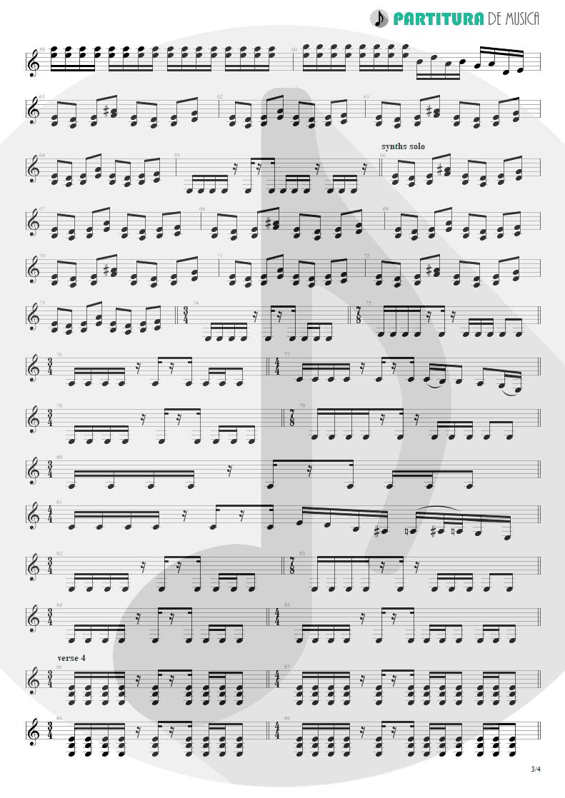 Partitura de musica de Guitarra Elétrica - Burning My Soul | Dream Theater | Falling into Infinity 1997 - pag 3