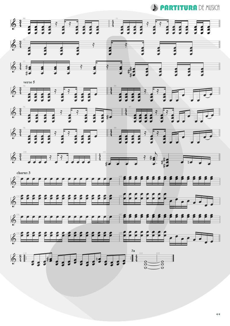 Partitura de musica de Guitarra Elétrica - Burning My Soul | Dream Theater | Falling into Infinity 1997 - pag 4