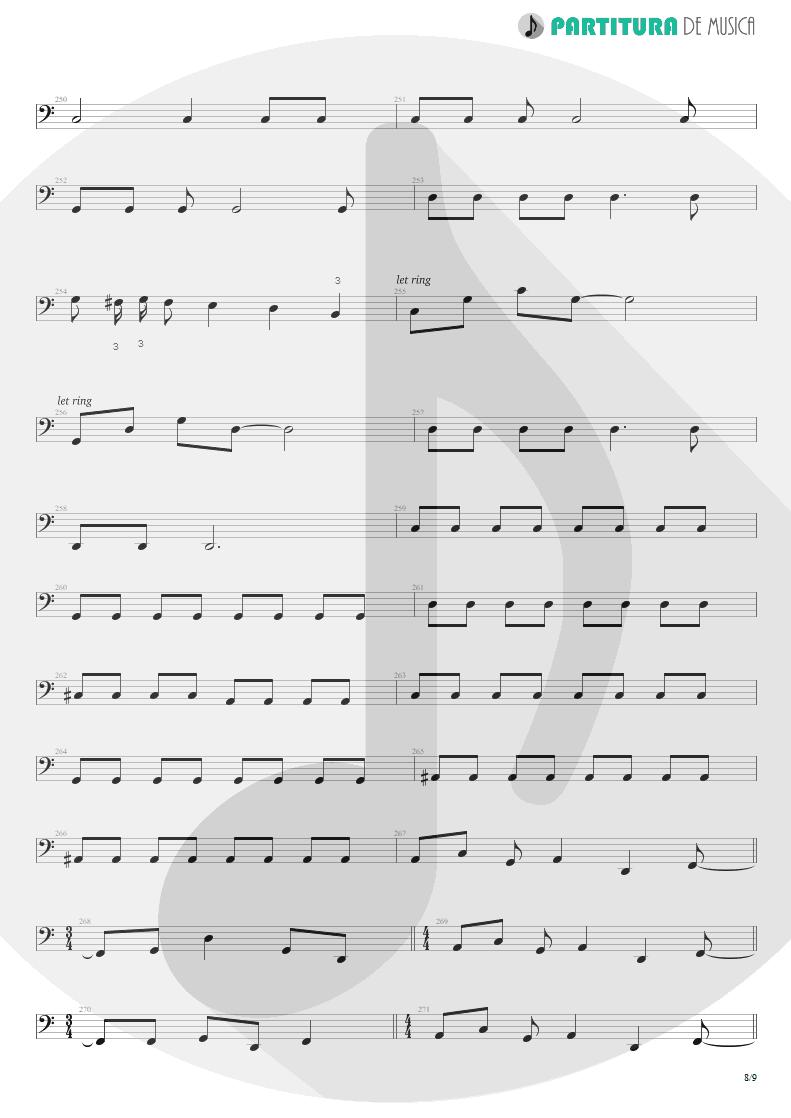 Partitura de musica de Baixo Elétrico - Blind Faith | Dream Theater | Six Degrees of Inner Turbulence 2002 - pag 8
