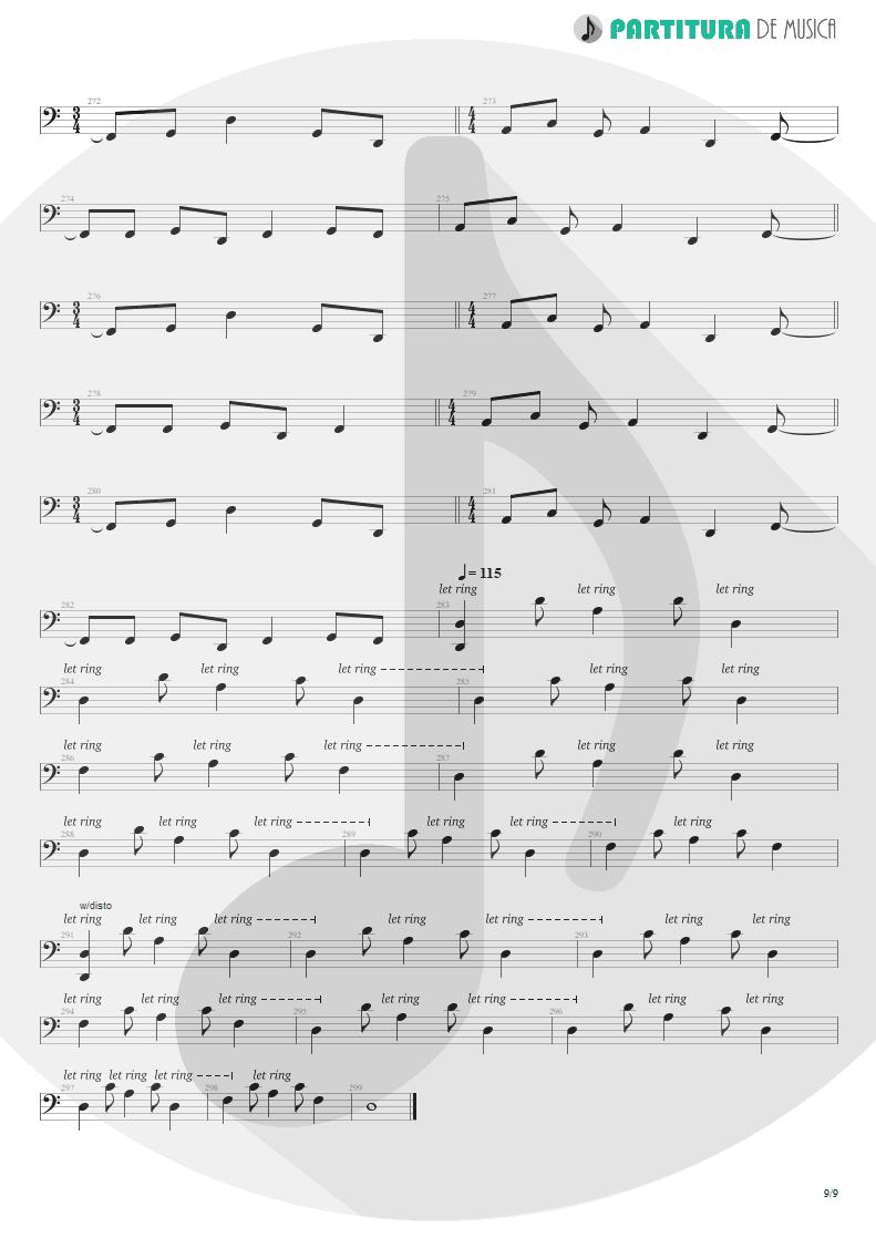 Partitura de musica de Baixo Elétrico - Blind Faith | Dream Theater | Six Degrees of Inner Turbulence 2002 - pag 9