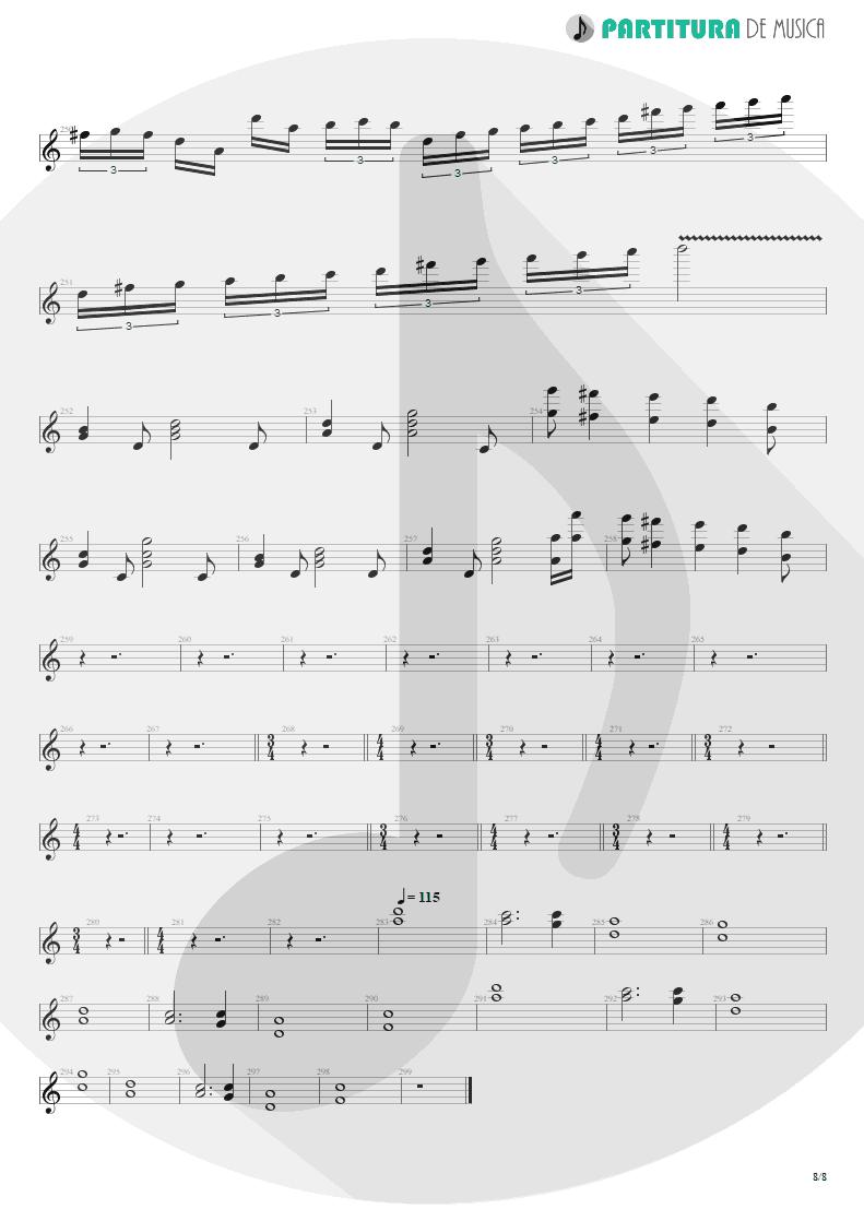 Partitura de musica de Teclado - Blind Faith | Dream Theater | Six Degrees of Inner Turbulence 2002 - pag 8