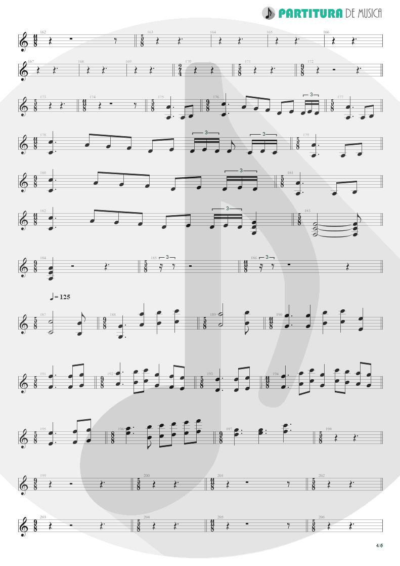 Partitura de musica de Teclado - Blind Faith | Dream Theater | Six Degrees of Inner Turbulence 2002 - pag 4