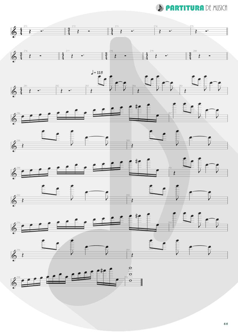 Partitura de musica de Teclado - Blind Faith | Dream Theater | Six Degrees of Inner Turbulence 2002 - pag 6