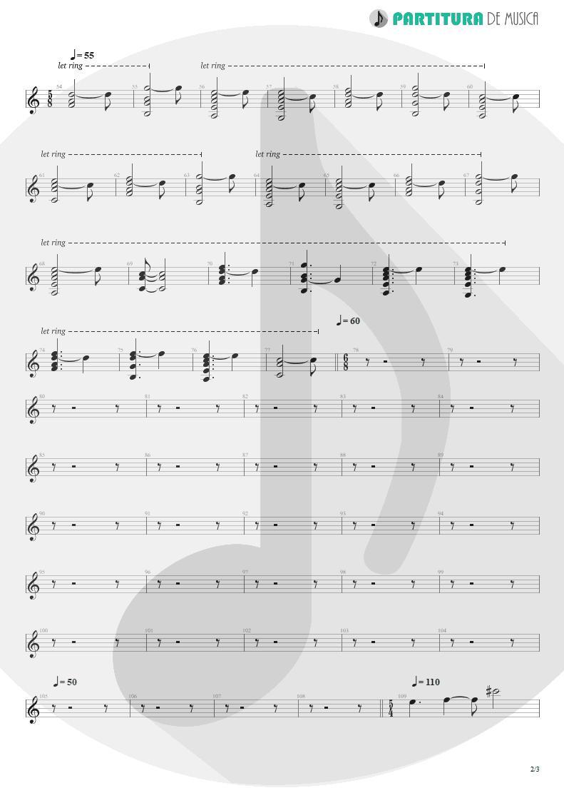 Partitura de musica de Teclado - Disappear | Dream Theater | Six Degrees of Inner Turbulence 2002 - pag 2