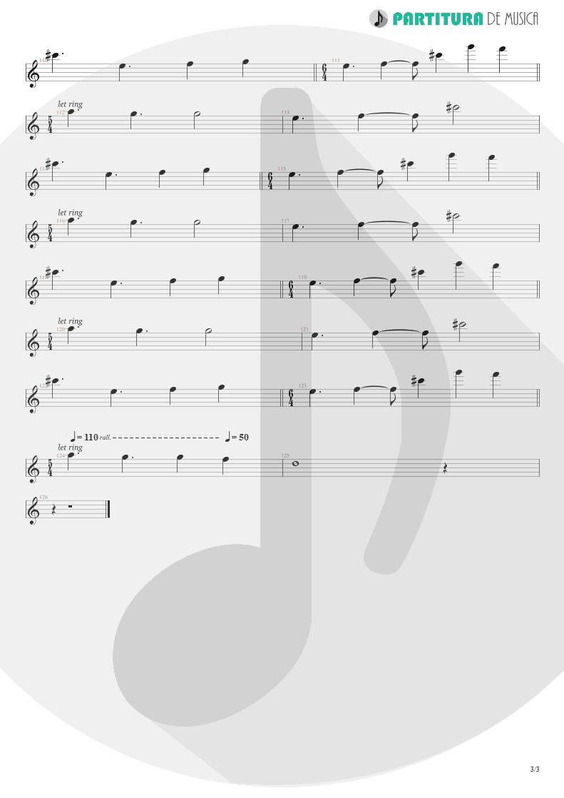 Partitura de musica de Teclado - Disappear | Dream Theater | Six Degrees of Inner Turbulence 2002 - pag 3