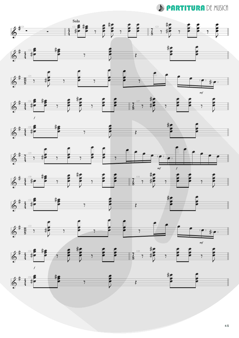 Partitura de musica de Teclado - Sacrificed Sons | Dream Theater | Octavarium 2005 - pag 4
