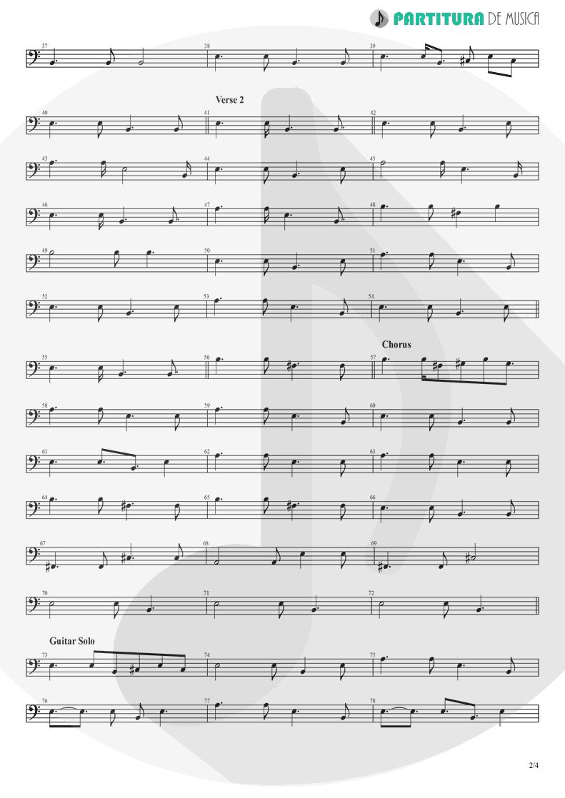 Partitura de musica de Baixo Elétrico - Peaceful Easy Feeling | Eagles | Eagles 1972 - pag 2