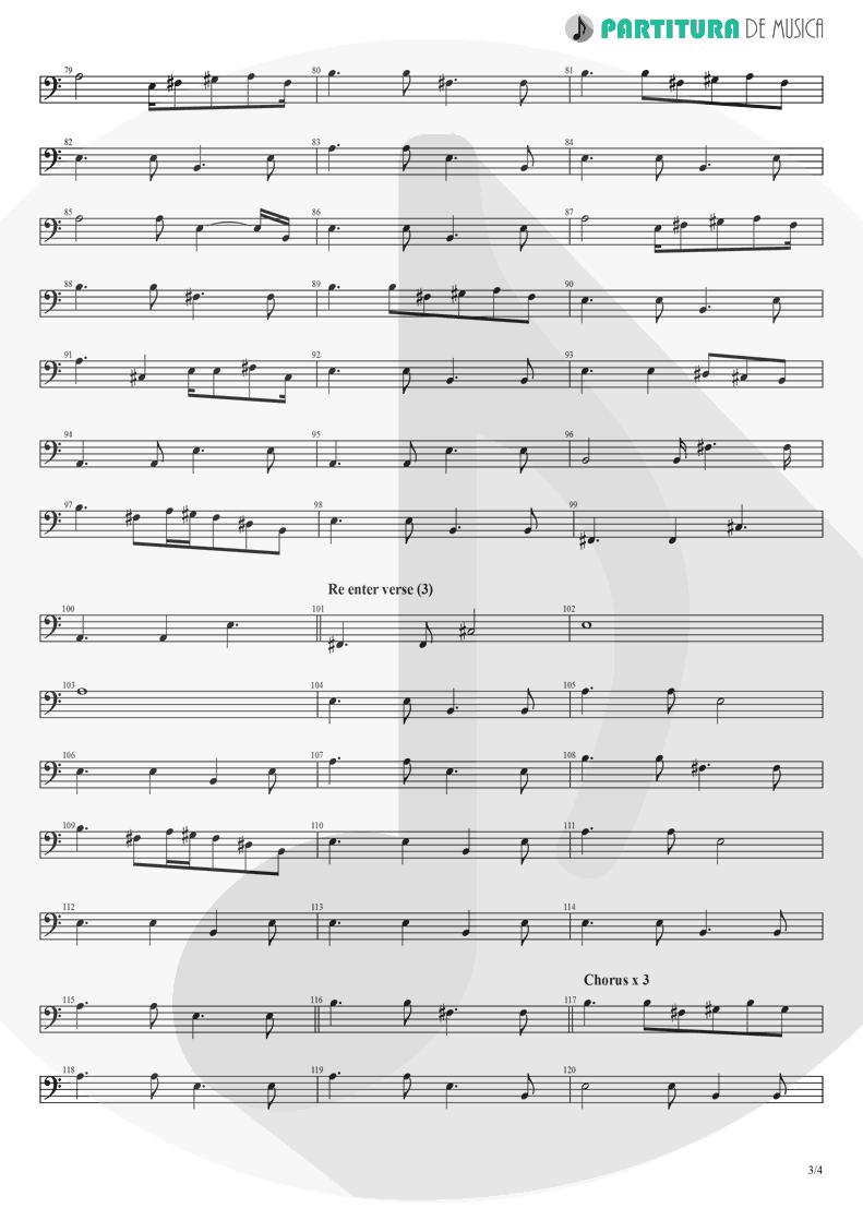 Partitura de musica de Baixo Elétrico - Peaceful Easy Feeling | Eagles | Eagles 1972 - pag 3