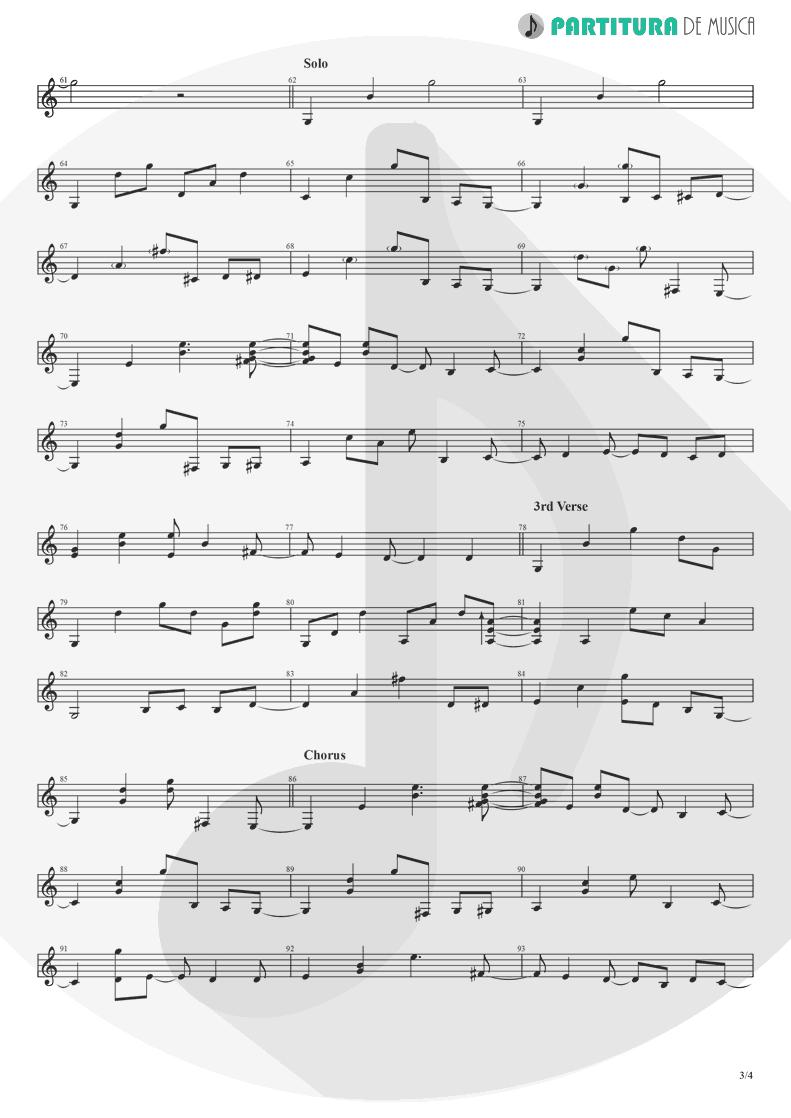 Partitura de musica de Guitarra Elétrica - Take It Easy   Eagles   Eagles 1972 - pag 3