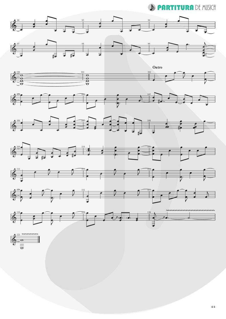 Partitura de musica de Guitarra Elétrica - Take It Easy   Eagles   Eagles 1972 - pag 4