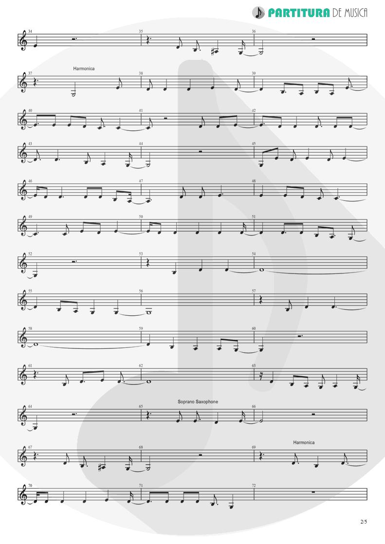 Partitura de musica de Canto - Already Gone | Eagles | On The Border 1974 - pag 2