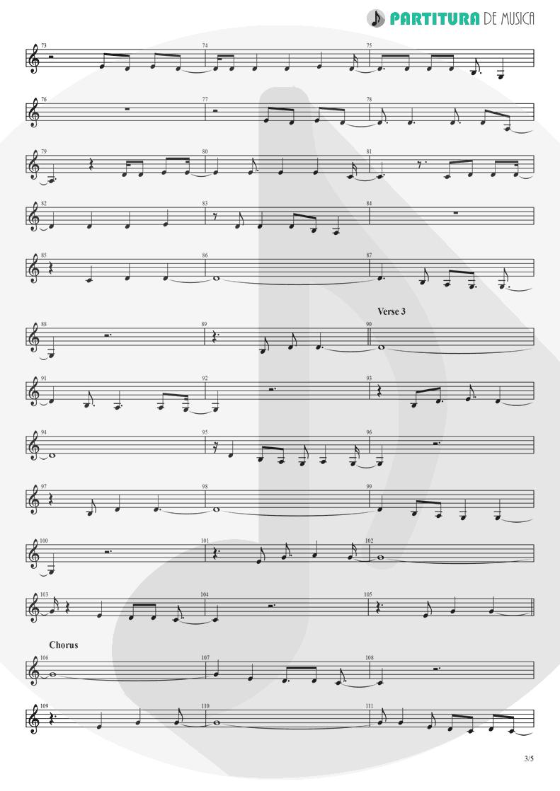 Partitura de musica de Canto - Already Gone | Eagles | On The Border 1974 - pag 3