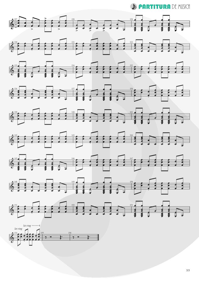 Partitura de musica de Guitarra Elétrica - Already Gone   Eagles   On The Border 1974 - pag 5