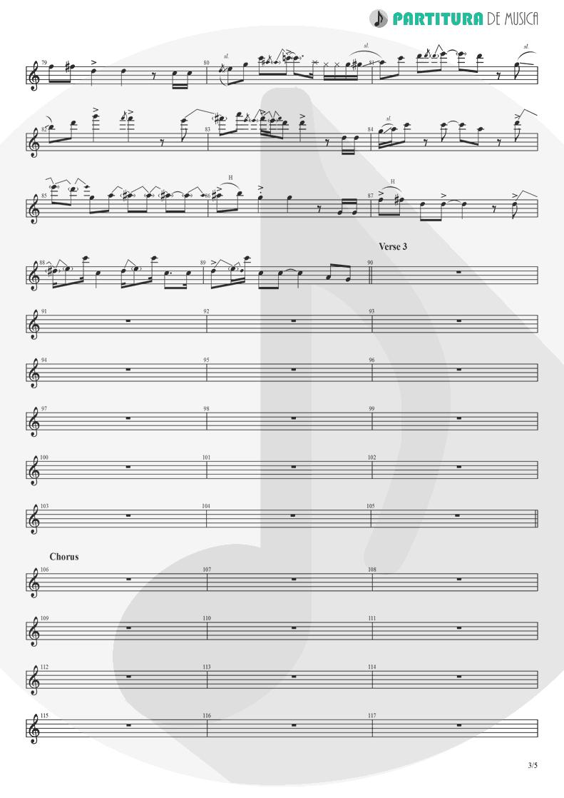 Partitura de musica de Guitarra Elétrica - Already Gone | Eagles | On The Border 1974 - pag 3