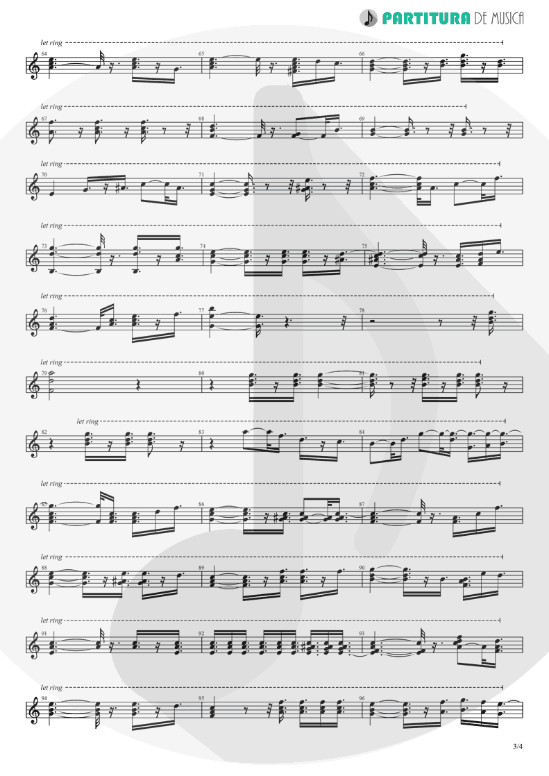 Partitura de musica de Piano - Take It to the Limit | Eagles | One of These Nights 1975 - pag 3