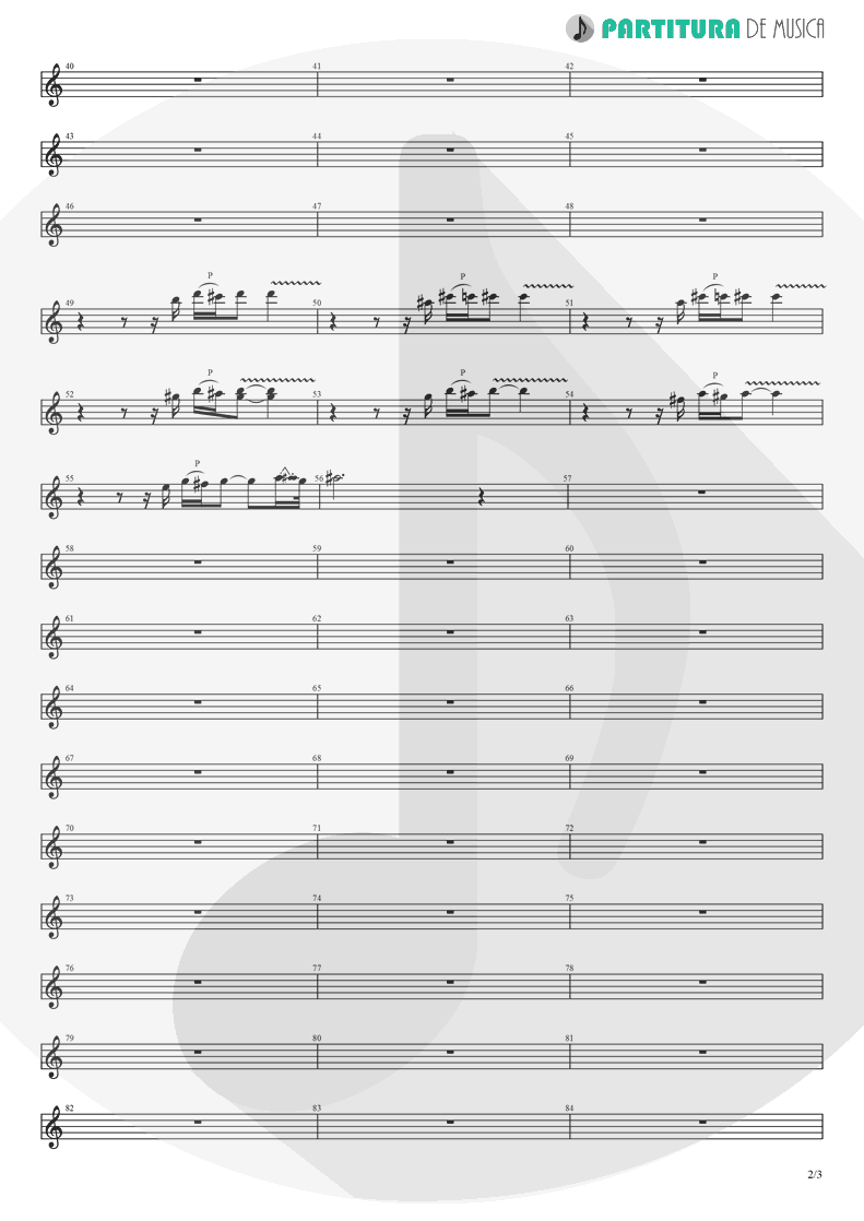 Partitura de musica de Guitarra Elétrica - Hotel California | Eagles | Hotel California 1976 - pag 2