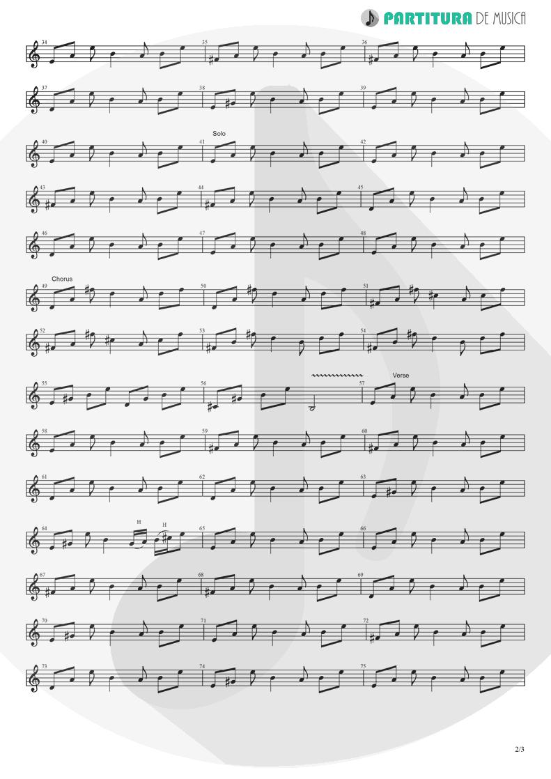 Partitura de musica de Guitarra Elétrica - Love Will Keep Us Alive | Eagles | Hell Freezes Over 1994 - pag 2
