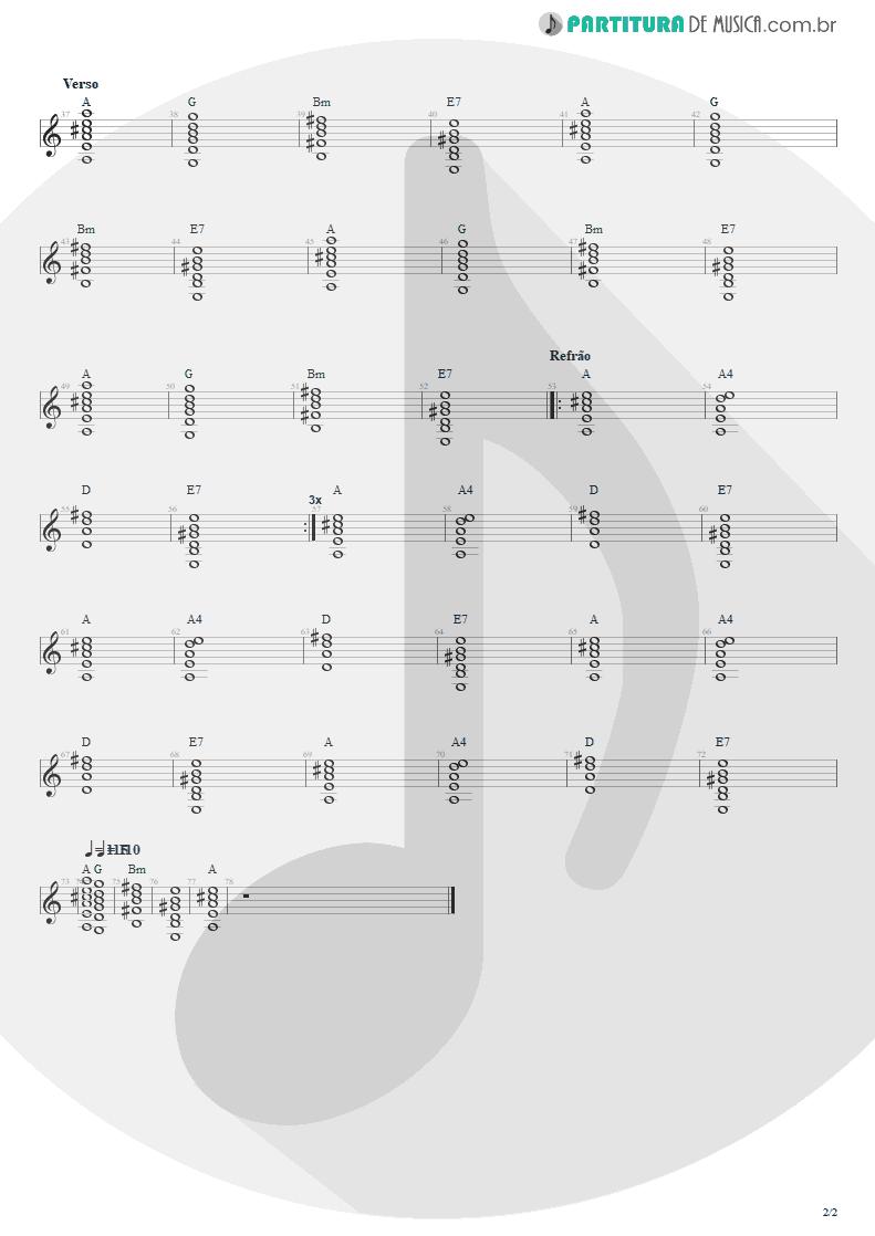 Partitura de musica de Violão - Nunca Se Sabe | Engenheiros do Hawaii | Ouça o Que Eu Digo: Não Ouça Ninguém 1988 - pag 2