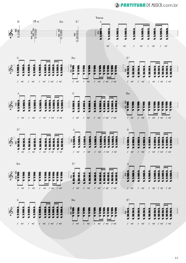 Partitura de musica de Violão - Nunca Se Sabe | Engenheiros do Hawaii | Ouça o Que Eu Digo: Não Ouça Ninguém 1988 - pag 3