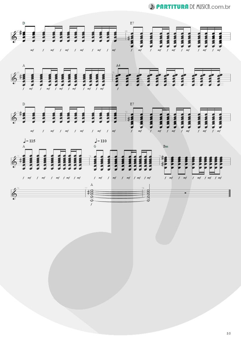 Partitura de musica de Violão - Nunca Se Sabe | Engenheiros do Hawaii | Ouça o Que Eu Digo: Não Ouça Ninguém 1988 - pag 5