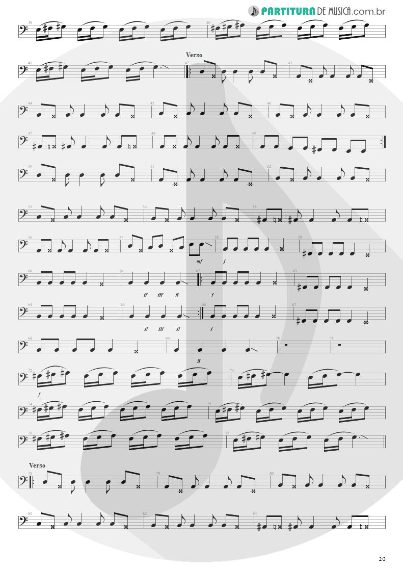 Partitura de musica de Baixo Elétrico - Tribos E Tribunais | Engenheiros do Hawaii | Ouça o Que Eu Digo: Não Ouça Ninguém 1988 - pag 2
