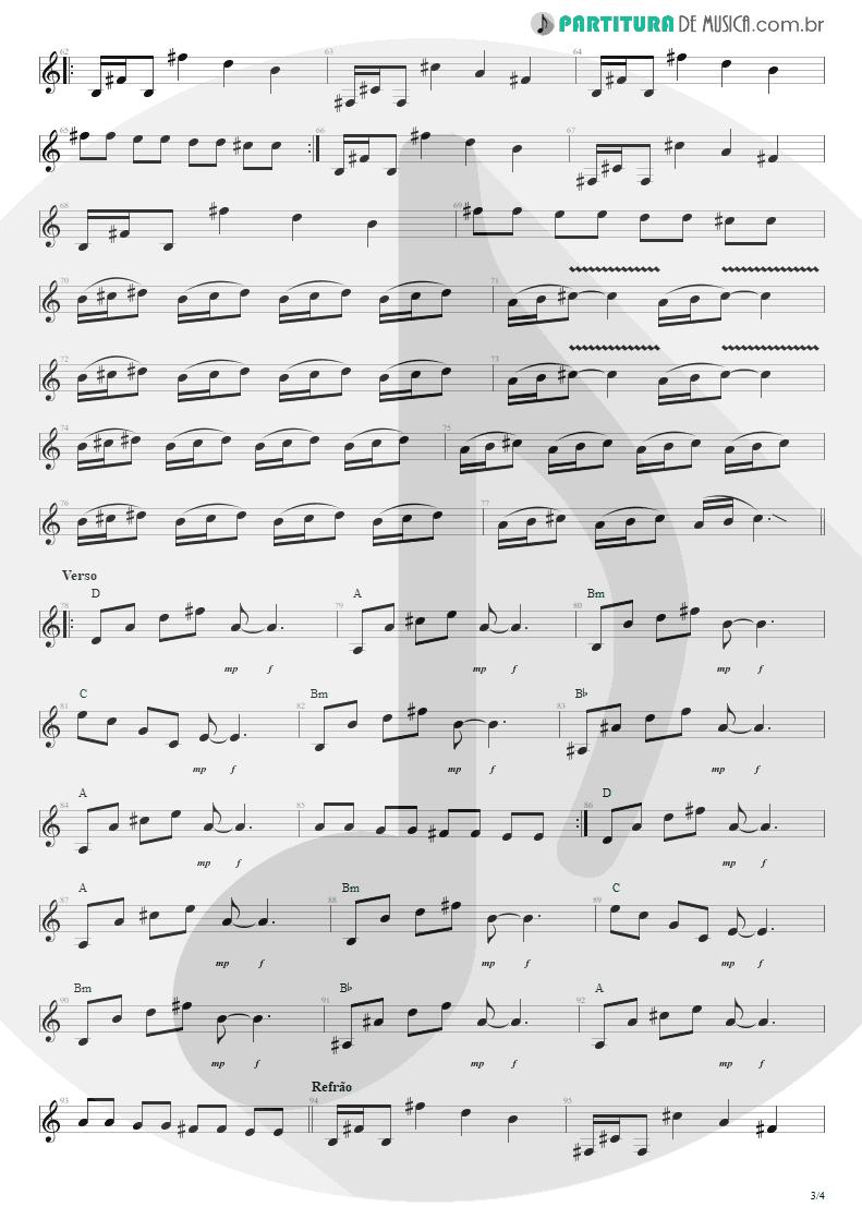 Partitura de musica de Guitarra Elétrica - Tribos E Tribunais | Engenheiros do Hawaii | Ouça o Que Eu Digo: Não Ouça Ninguém 1988 - pag 3