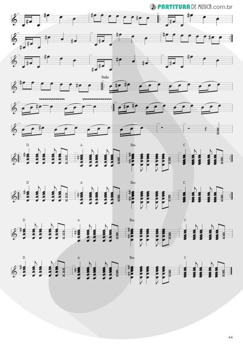 Partitura de musica de Guitarra Elétrica - Tribos E Tribunais | Engenheiros do Hawaii | Ouça o Que Eu Digo: Não Ouça Ninguém 1988 - pag 4