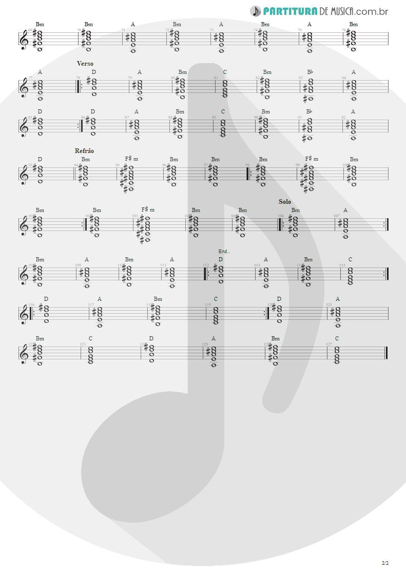 Partitura de musica de Violão - Tribos E Tribunais | Engenheiros do Hawaii | Ouça o Que Eu Digo: Não Ouça Ninguém 1988 - pag 2