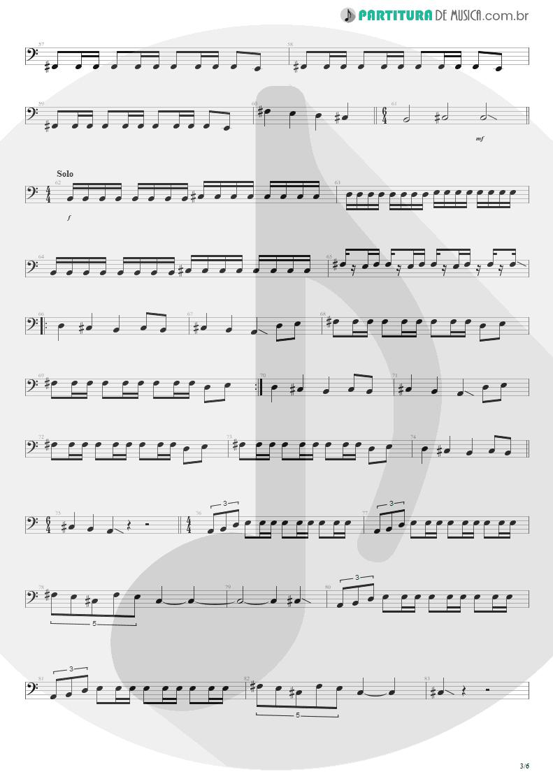 Partitura de musica de Baixo Elétrico - Anoiteceu Em Porto Alegre | Engenheiros do Hawaii | O Papa é Pop 1990 - pag 3