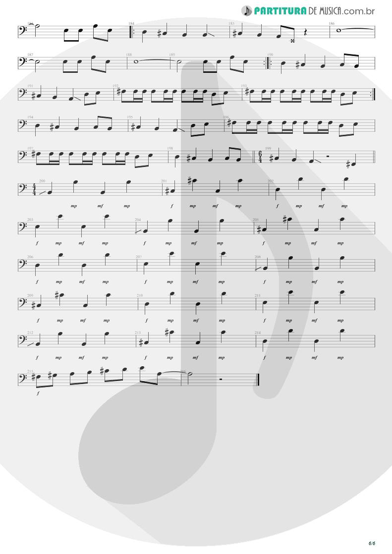 Partitura de musica de Baixo Elétrico - Anoiteceu Em Porto Alegre | Engenheiros do Hawaii | O Papa é Pop 1990 - pag 6