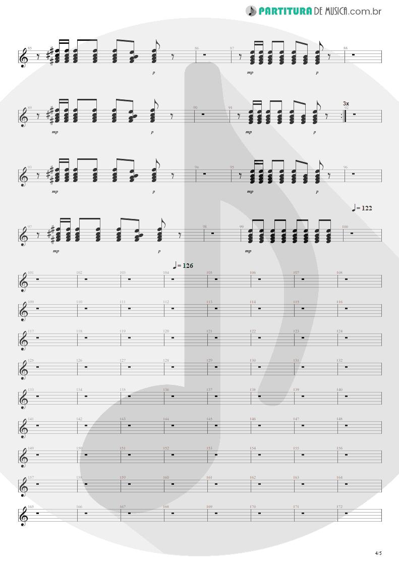 Partitura de musica de Guitarra Elétrica - Anoiteceu Em Porto Alegre | Engenheiros do Hawaii | O Papa é Pop 1990 - pag 4