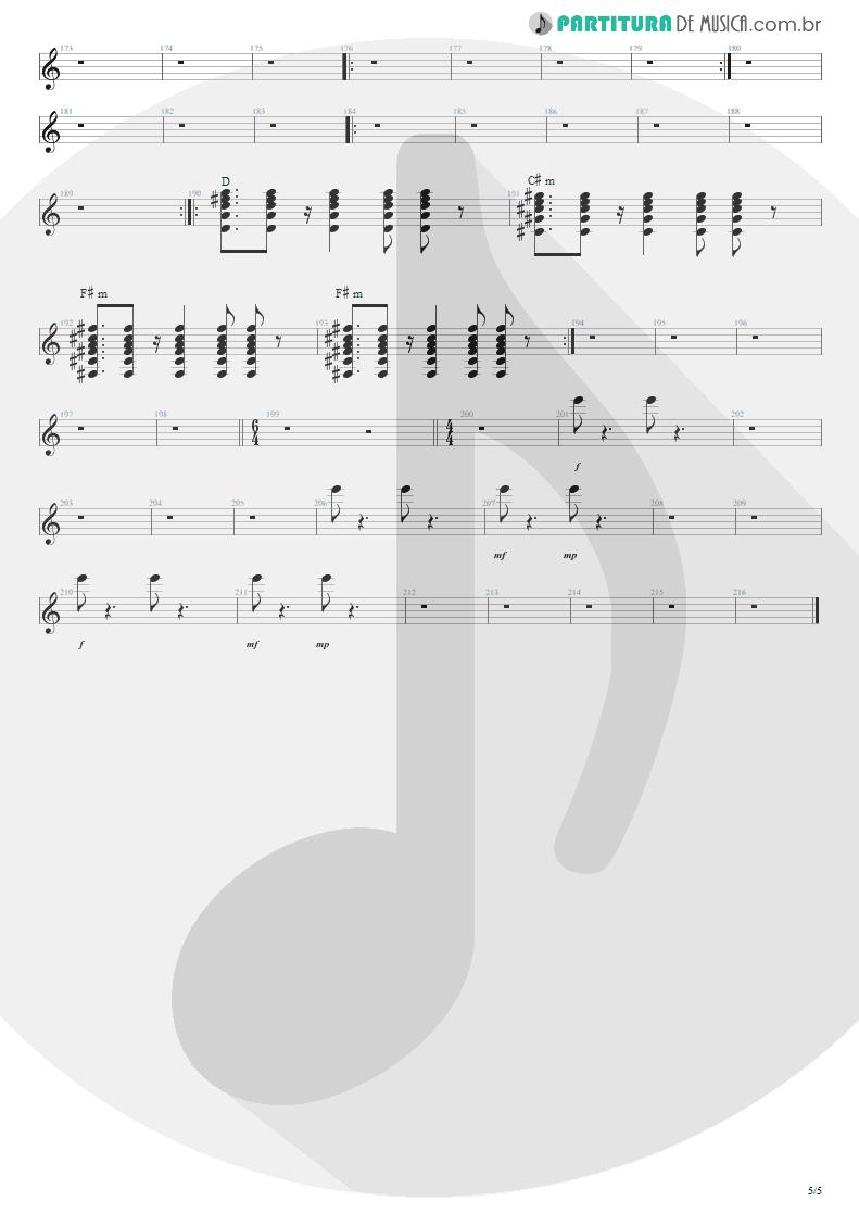 Partitura de musica de Guitarra Elétrica - Anoiteceu Em Porto Alegre | Engenheiros do Hawaii | O Papa é Pop 1990 - pag 5