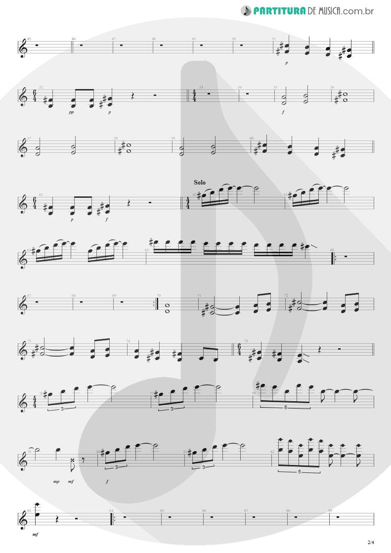 Partitura de musica de Guitarra Elétrica - Anoiteceu Em Porto Alegre | Engenheiros do Hawaii | O Papa é Pop 1990 - pag 2