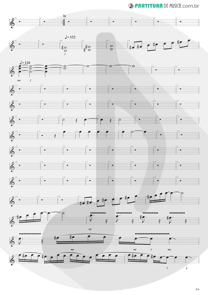 Partitura de musica de Guitarra Elétrica - Anoiteceu Em Porto Alegre | Engenheiros do Hawaii | O Papa é Pop 1990 - pag 3