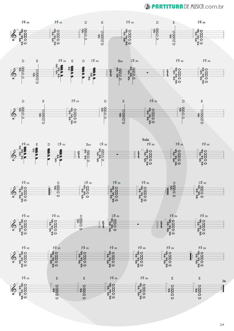 Partitura de musica de Violão - Anoiteceu Em Porto Alegre   Engenheiros do Hawaii   O Papa é Pop 1990 - pag 2