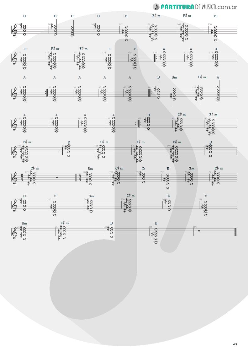 Partitura de musica de Violão - Anoiteceu Em Porto Alegre   Engenheiros do Hawaii   O Papa é Pop 1990 - pag 4