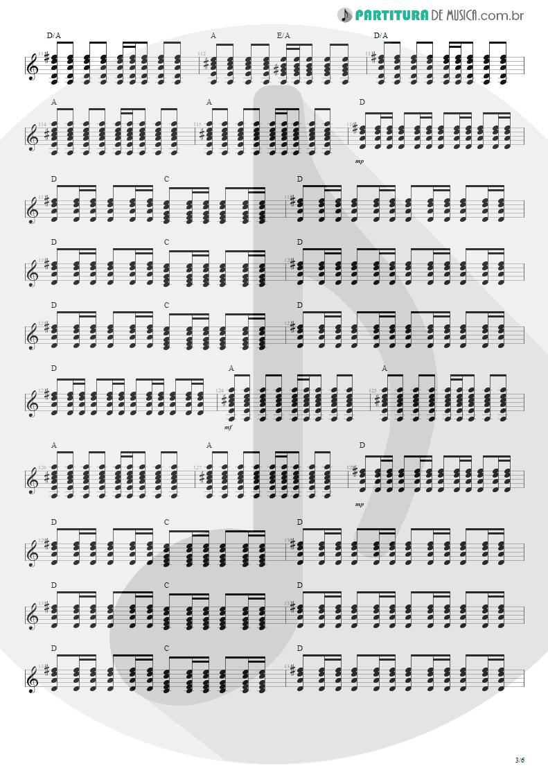 Partitura de musica de Violão - Anoiteceu Em Porto Alegre | Engenheiros do Hawaii | O Papa é Pop 1990 - pag 3