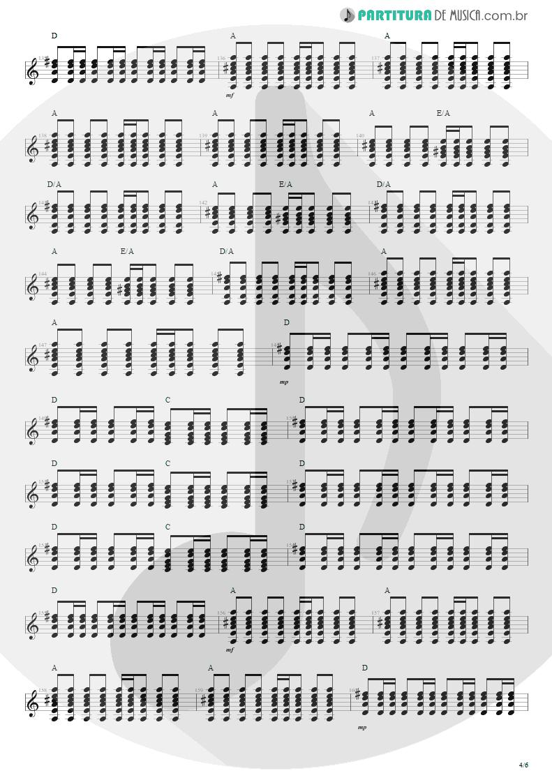 Partitura de musica de Violão - Anoiteceu Em Porto Alegre | Engenheiros do Hawaii | O Papa é Pop 1990 - pag 4