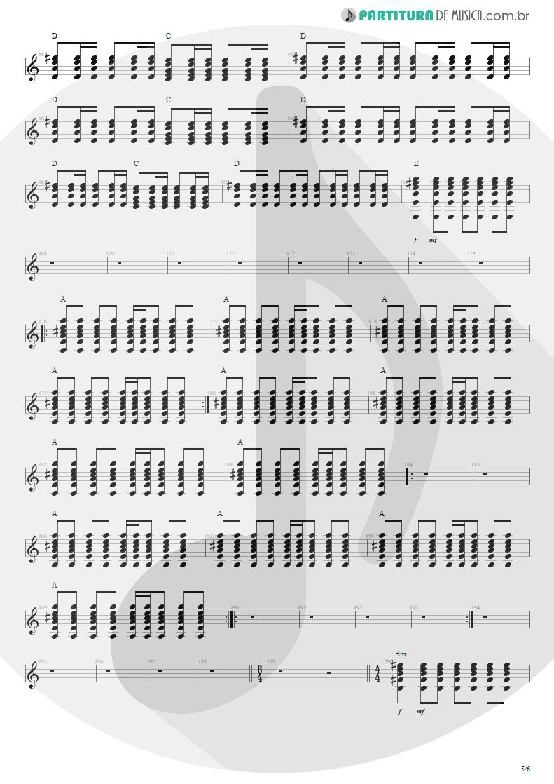 Partitura de musica de Violão - Anoiteceu Em Porto Alegre | Engenheiros do Hawaii | O Papa é Pop 1990 - pag 5