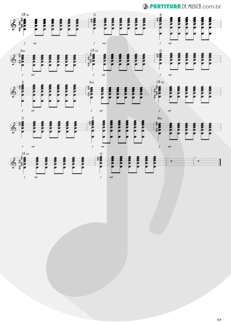 Partitura de musica de Violão - Anoiteceu Em Porto Alegre | Engenheiros do Hawaii | O Papa é Pop 1990 - pag 6