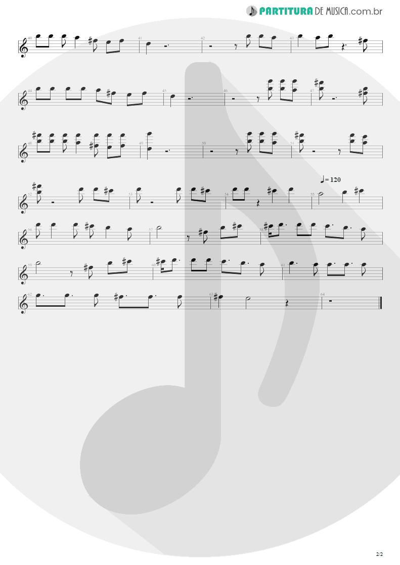 Partitura de musica de Canto - Pra Ser Sincero | Engenheiros do Hawaii | O Papa é Pop 1990 - pag 2